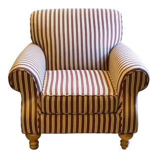 Broyhill Striped Club Chair