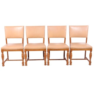 1940s Jacobean-Style Chairs - Set of 4
