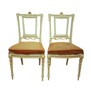 Antique Gustavian Swedish Side Chairs - A Pair