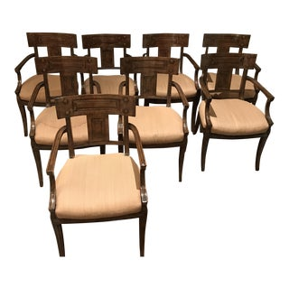 Michael Taylor Dining Arm Chairs - Set of 8
