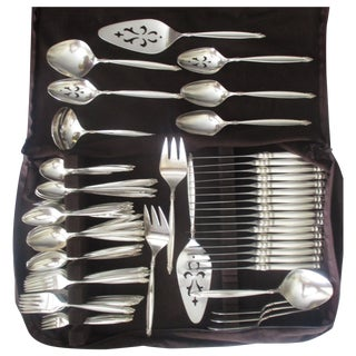 Rogers Bros. Silver Plated Flatware - Set of 113