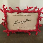 Image of Kenneth Jay Lane Red Coral Frame