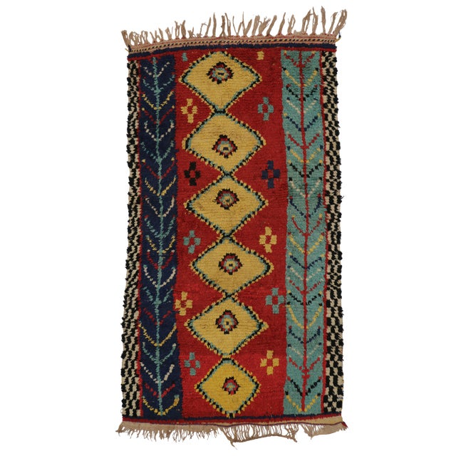 "Vintage Berber Moroccan Rug - 3'6"" x 6'2"" - Image 1 of 6"
