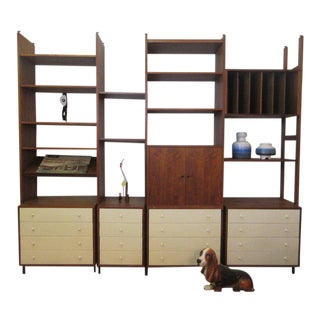 Hardwood House Wall or Room-Divider Shelving System