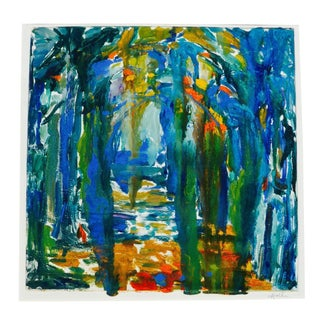 """""""Rain in the Forest"""" Monotype by Martha Holden"""