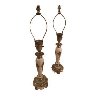Antique Rembrandt Table Lamps - A Pair