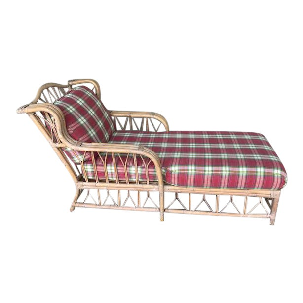 Vintage Wicker & Rattan Chaise - Image 1 of 7