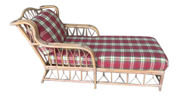 Vintage Wicker u0026 Rattan Chaise  sc 1 st  Chairish : antique wicker chaise lounge - Sectionals, Sofas & Couches