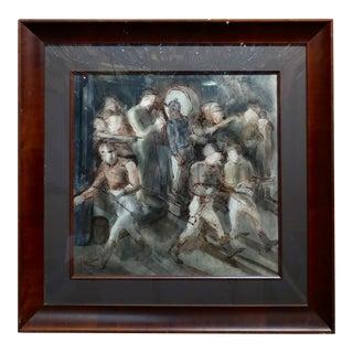 Carl Hugo Beetz- Jockeys - Mix Media Painting- c1939