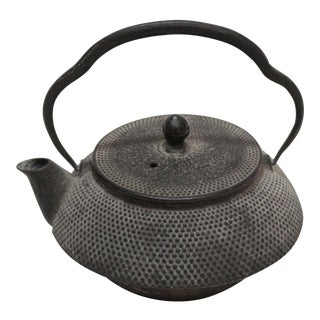 Vintage Cast Iron Asian Tea Pot