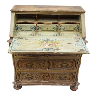 French Distressed Painted Secretary Desk