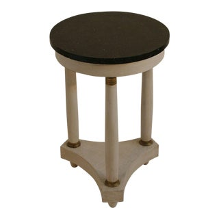 Empire Tripod Pedestal Table with Black Marble Top