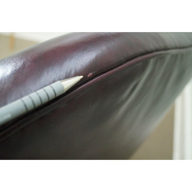 Oxblood Leather Wing Chairs - A Pair - Image 10 of 10