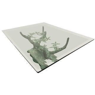 BEAUTIFUL SCULPTURAL BRONZE TREE COFFEE TABLE