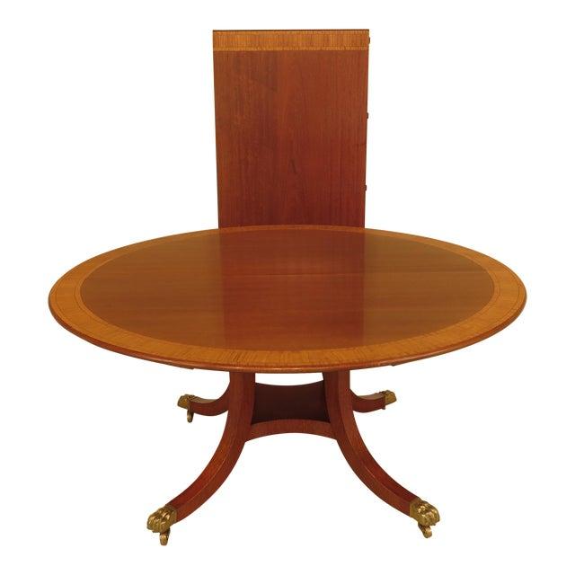 Custom Built Dining Room Tables: William Tillman Custom Made Round Mahogany Dining Room
