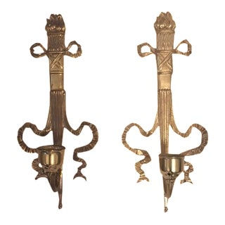 Hollywood Regency Candle Sconces - Pair