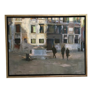 Painting of Contemporary Street Scene, Venice Italy