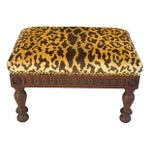 Image of Custom Scalamandre Leopardo Velvet Footstool