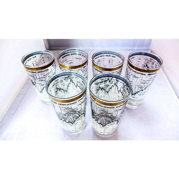 Neiman Marcus Stock Market Glasses - Set of 6 - Image 5 of 6