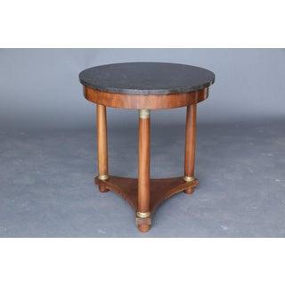 19th Century Empire Style Marble Table on Mahogany Base