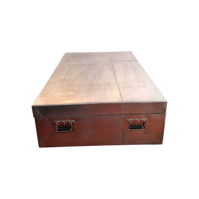 Restoration Hardware Blackhawk Coffee Table Box Chairish
