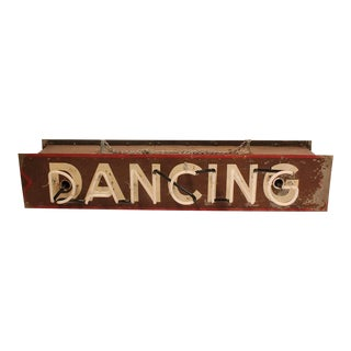 """Vintage Double Sided Neon Sign """"Dancing"""""""