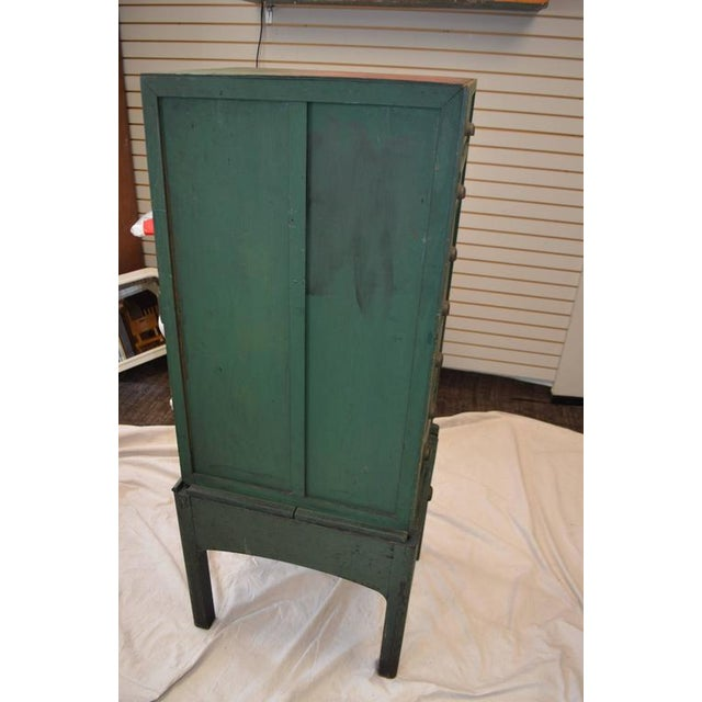 Green Painted Eight-Drawer Cabinet - Image 5 of 10