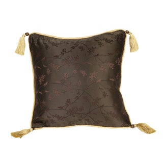 Silk Brown Vine 16x16 Pillow