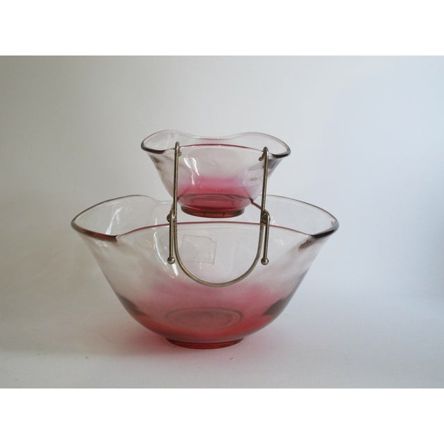 Cranberry Red Chip & Dip Bowl - Image 7 of 8