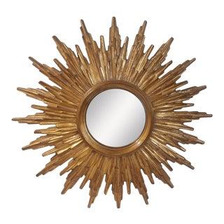 French Sunburst Gilded Wood Mirror