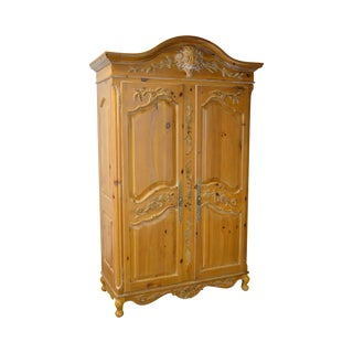 Ethan Allen Legacy Collection Large Country Style Pine Armoire
