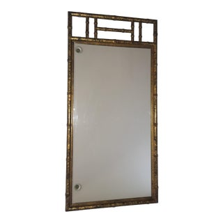 Mid Century Faux Bamboo Chinoiserie Mirror