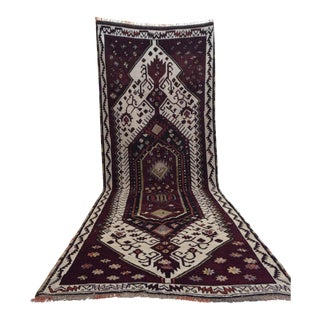 Kurdish Hand-Knotted Runner Rug - 3′10″ × 11′2″