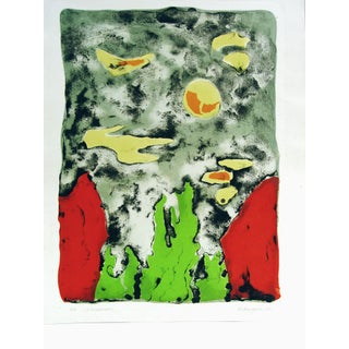 Debangana Banerjee Abstract Lithograph