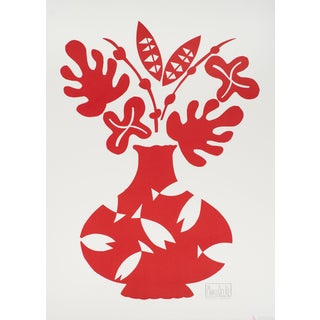 "Marco Del Re ""Vase III Rouge"" 2008 Lithograph"