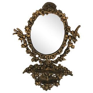 Gilded Cast Iron Vanity Mirror