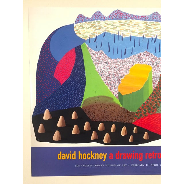 Vintage 1996 David Hockney Original Lithograph Lacma Exhibition Pop Art Poster - Image 2 of 11
