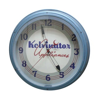 1940's Kalvinator Appliances Store Clock