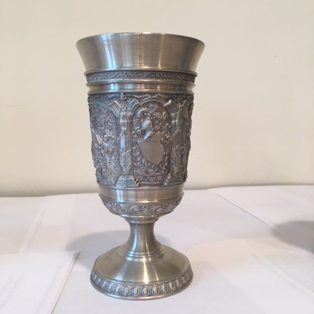 Vintage Embossed Pewter Cups - Set of 4 - Image 3 of 9