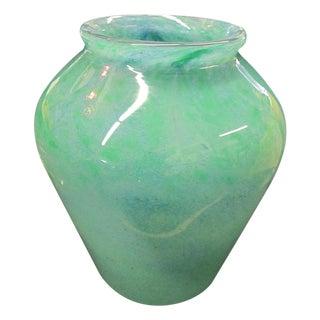 Vintage Scottish Art Glass Vase, Signed