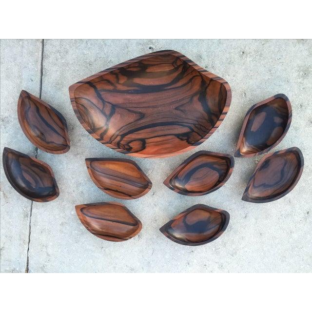 9-Piece Rosewood Salad Bowl Set - Image 2 of 11
