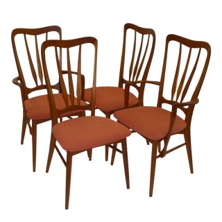 FOUR Niels Koefoed Danish Teak Dining Chairs