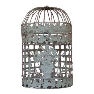 Medium White Metal Birdcage