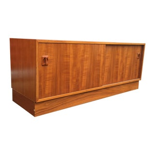 Danish Modern Cabinet With Vertical Record Storage