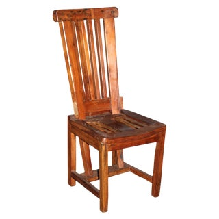 Teak Slat Stool Chair
