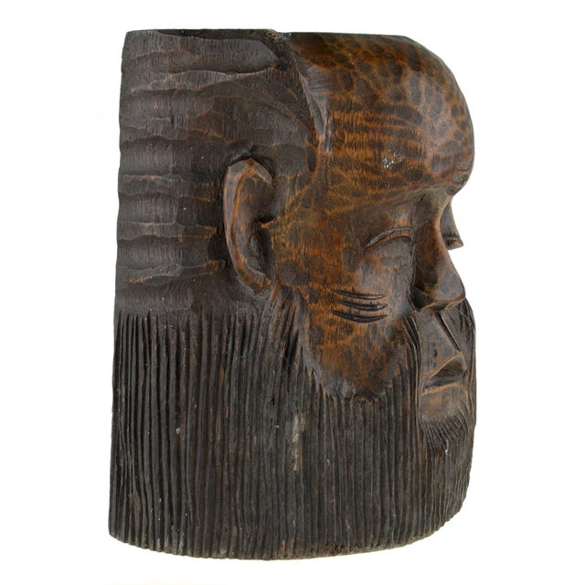 Hand Carved African Face Mask Chairish