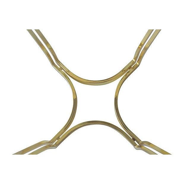 Brass Clover Side Tables - Pair - Image 3 of 3