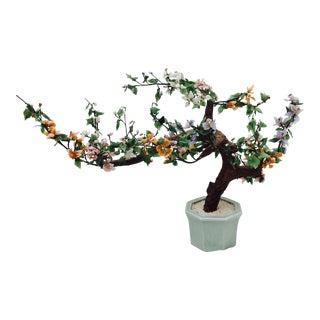 Vintage Mixed Stone Bonsai Tree Sculpture
