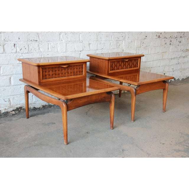 Mid-Century Lane Step End Tables - a Pair - Image 4 of 10