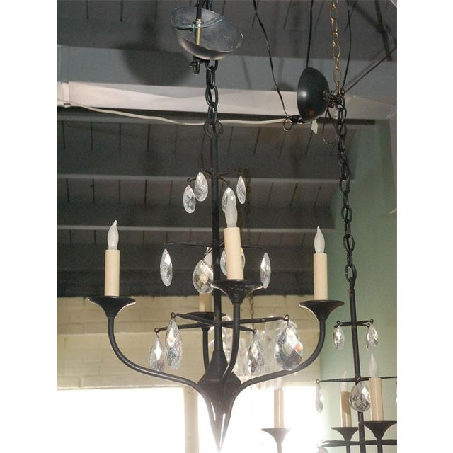 Image of Pair of Danish Iron Chandeliers